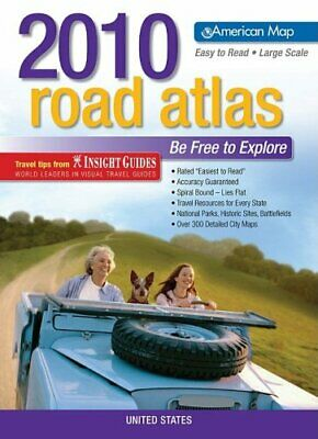 £14.99 • Buy USA Road Atlas 2010 - Large Scale (AMC R... By American Map Corpora Spiral Bound