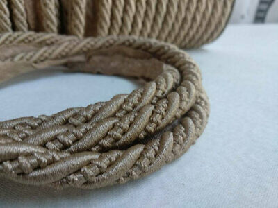 CHOCOLATE  ZTRH01002 ZOFFANY 1//4 FLANGED CORD SOLD BY THE METRE
