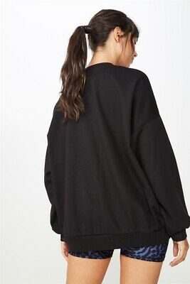 AU10 • Buy Cotton On Body Womens Slouchy Active Crew Top  In  Black