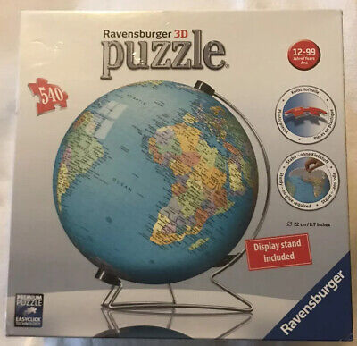 $24.99 • Buy Ravensburger The Earth 3D Jigsaw Puzzle Ball World Globe 540 Pieces With Stand