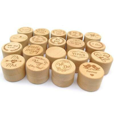 Personalized Rustic Wedding Wooden Ring Box Jewelry Trinket Storage Container C • 3.47£