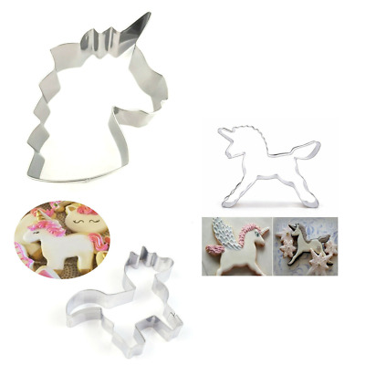 AU5.64 • Buy 1x Brand New Unicorn Biscuit Cookie Cutter Maker. Various Designs