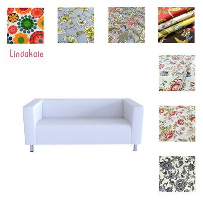 Custom Made Cover Fits IKEA  Fits 2 Seater KLIPPAN Sofa, Patterned Sofa Cover • 48.94£