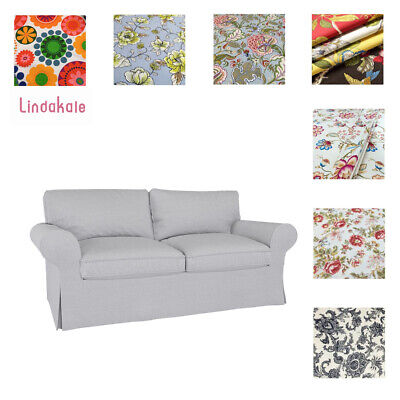 Custom Made Cover Fits IKEA EKTORP Loveseat, Two Seat Sofa Cover, Patterned • 91.28£