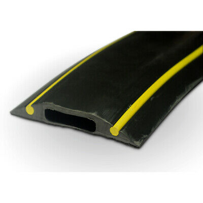 PC229 Rubber Cable Floor Cover Protector Hazard Black Yellow 10cm Piece • 3.79£