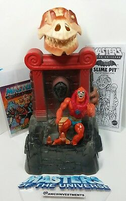 $129.95 • Buy HE MAN/MOTU 1980s SLIME PIT COMPLETE*comic G.9*instruction Book*see Pictures*