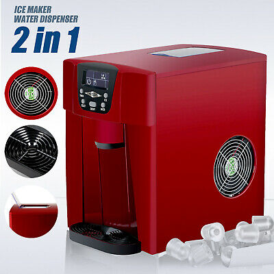 $118.90 • Buy Electric 2 In 1 Ice Maker Machine Countertop Water Dispenser Compact  26LBS Red