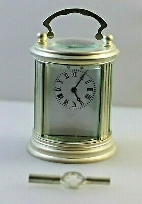 £225 • Buy Round Miniature Carriage Clock Silver Plated