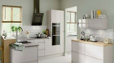 New Hygena Kensal White Gloss Kitchen Handleless- Orders Over £700=Free Delivery • 15£
