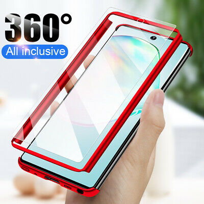 AU4.88 • Buy For Samsung S21 S20 FE Note 20 S9 S8 Plus 360° Full Cover Case + Tempered Glass