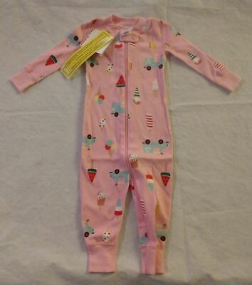 $21.99 • Buy NWT Hanna Andersson Ice Cream Sleeper 1PC Pajamas 70 6-12 Months Baby Girl