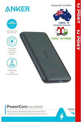 AU59.99 • Buy Anker PowerCore Lite 10,000mAh Portable Charger USB-C Power Bank