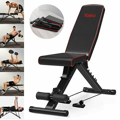 £41.99 • Buy EasyBuild Adjustable Folding Olympic Weight Bench - Upright To Decline Black