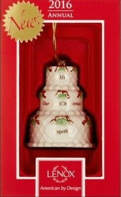 $23.09 • Buy Lenox 2016  Our First Christmas Together  Cake Ornament, New In Box