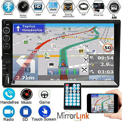 AU73.70 • Buy 7  Double 2 DIN Car Stereo Radio Mp5 Video FM Camera Mirrorlink For GPS Android