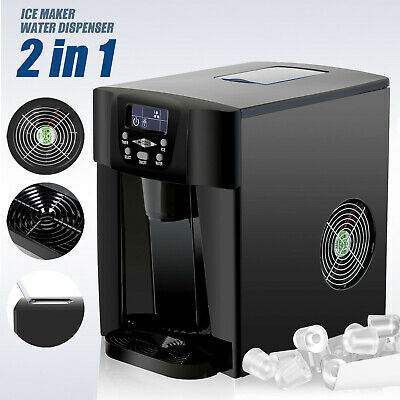 $118.90 • Buy 2 In 1 Electric Ice Maker Compact Countertop Water Dispenser Ice Cube Machine
