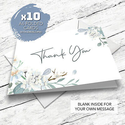 £3.95 • Buy 10-Pack Premium Thank You Cards - Wedding - Birthday - Teacher - Any Occasions