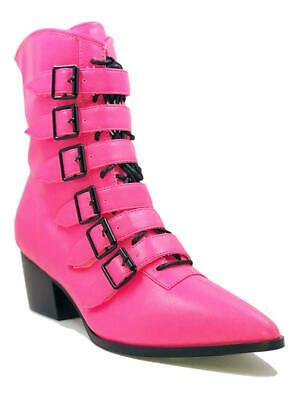 AU178.37 • Buy Strange Cvlt Cult YRU Coven Hot Pink Gothic Punk Witchy Granny Boots Heels Shoes