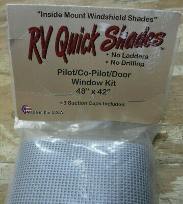 $26.95 • Buy RV Quick Shades - Pilot/Copilot/Door Window Kit Gray 48  W X 42  L Inside Mount