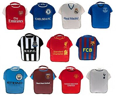 Football Shirt Lunch Bag Kit Box Boys Club Childs School Sports Team Lunchbox • 12.99£