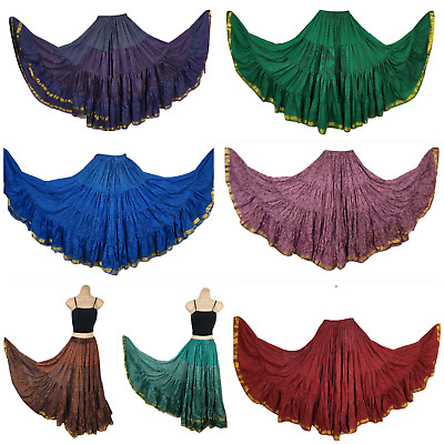 Boho Gypsy Hippie Maxi Skirt Recycled Silk Sari 12 Yard Bollywood Belly Dance • 17.99£