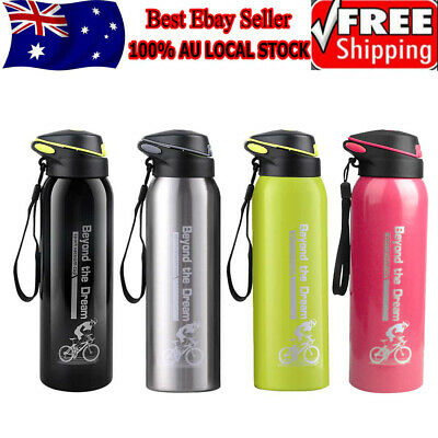 AU15.69 • Buy 0.5L Water Flask Thermos Stainless Steel Vacuum Insulated Dual Wall Drink Bottle