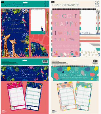 2021 Family Organiser 5 Columns Calendar Planner Month To View Note Pad & Pen  • 7.79£