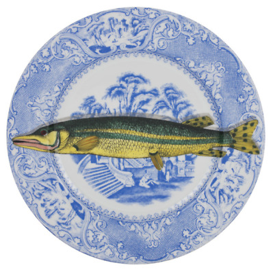 $520 • Buy Rare Fornasetti PLATE  Fish On Plate  PISCIBUS N°1 COLOUR NIB