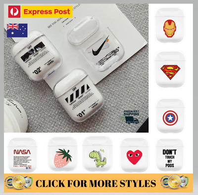 AU9.99 • Buy Airpods Case Clear Protective Clear Cover DESIGNER Apple AirPod 1 2 Earphone
