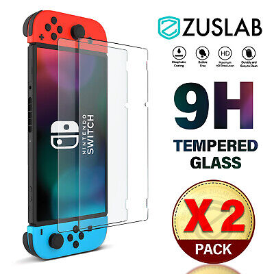 AU7.95 • Buy For Nintendo Switch Screen Protector ZUSLAB 9H Full Cover Tempered Glass X 2