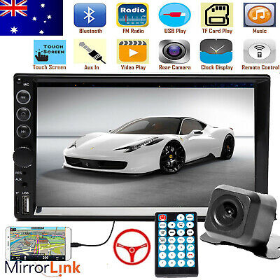AU85.54 • Buy 7  Double 2DIN Car Stereo In-Dash Head Unit Radio+Free Camera Mirrorlink For GPS