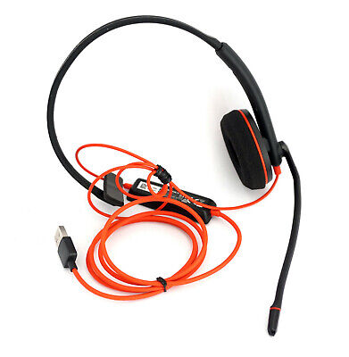 Plantronics Blackwire C3210 Mono Headset With Microphone Stereo USB For PC Skype • 45.11£