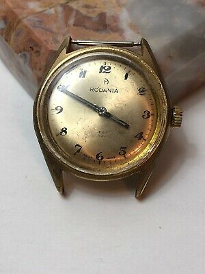 $ CDN19.95 • Buy Vintage Rodania 17 Jewels Incabloc Watch Head / Repair Or Parts
