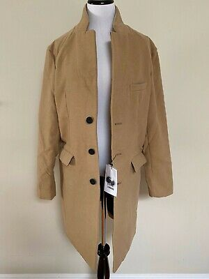 $12.99 • Buy NWT Men's Browny Standard Camel Felted 3 Button Peacoat Overcoat Coat SIZES M L