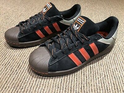 $ CDN130 • Buy Adidas Skate Superstar – Black – White + Black/ Brown/ Orange 2008 Size 9 US