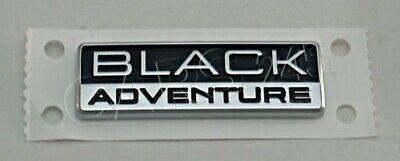 Genuine VW TOUAREG BLACK ADVENTURE BADGE EMBLEM TRUNK LID 7P6853688B DPJ • 19.29£