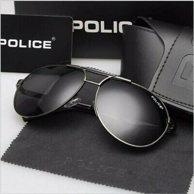 AU21.77 • Buy Police Men Polarized Retro Outdoor Aviator Sunglasses Glasses Eyewear+Box
