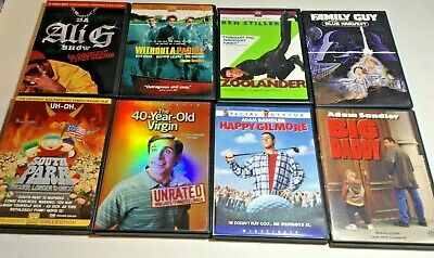 $ CDN19.99 • Buy Lot Of 8 Comedy DVDs Zoolander Family Guy South Park Big Daddy Happy Gilmore Etc
