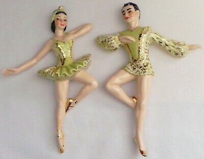 $39.99 • Buy Vintage Ballet Dancers Grace & Greg Wall Plaques Ceramic Arts Studio Of Madison