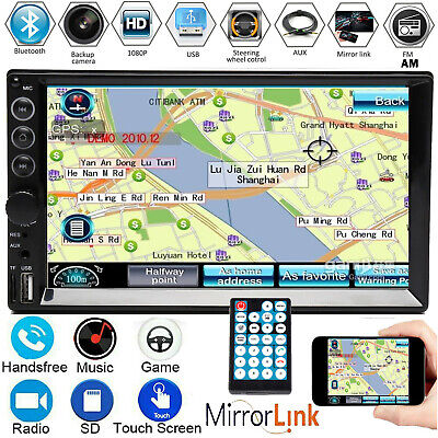 AU73.70 • Buy 7'' Double 2DIN Car Radio Stereo MP5 Player Mirrorlink For Android IOS GPS FM AM