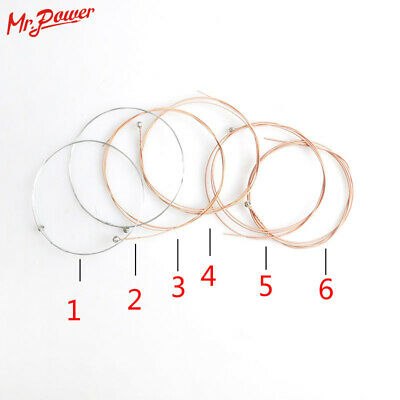 $ CDN8.63 • Buy Acoustic Guitar String 6 Pcs/ Set 10 Guitars Strings Accessories & Parts Bass