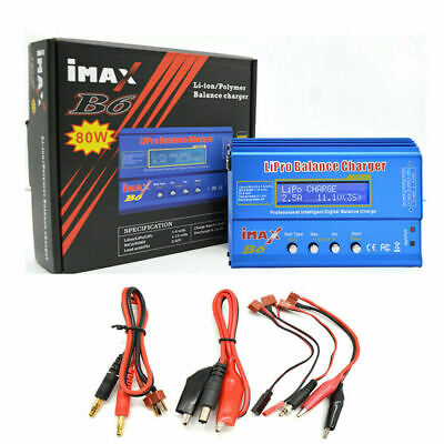 AU30.61 • Buy IMAX B6 80W RC Battery Charger Lipo NiMh Battery Balance Digital Charger For PC