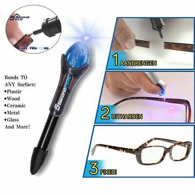 $ CDN7.80 • Buy Est 1PC 5 Second Fix UV Light Pen Glass Glue Repair Tool With Glue Super P