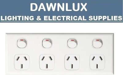 AU17.95 • Buy Quad Power Point 4 Gang Socket Outlet 10A GPO Double 10AMP