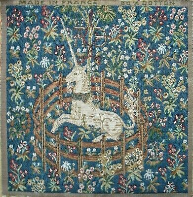 Woven Tapestry Panel - Captive Unicorn [blue] 23 X 25cm Approx • 5.80£