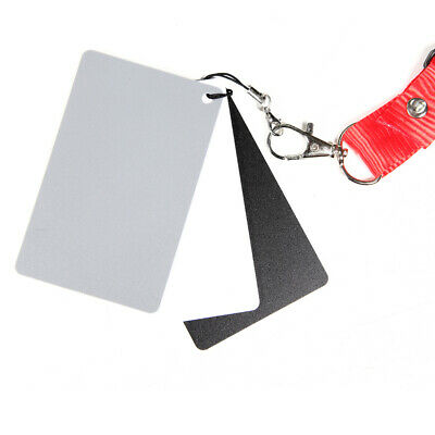 18% Grey Cards White Balance Card Set Tool Correction Color Strap Neck With • 3.64£