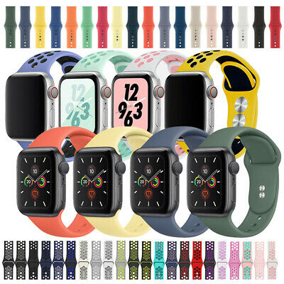 $ CDN5.29 • Buy For Apple Silicone Sport Watch Band Strap For IWatch Series 5 4 3 2 38-44mm