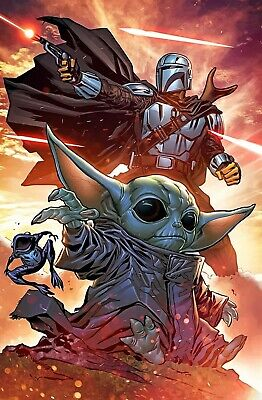 $14.99 • Buy Star Wars: The Mandalorian Baby Yoda Collector's Art Poster - NEW - 11x17 13x19