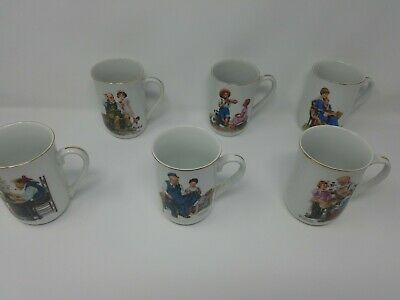 $ CDN31.55 • Buy Vintage Norman Rockwell 1982 Museum Collection Coffee Cups/Mugs Set Of 6