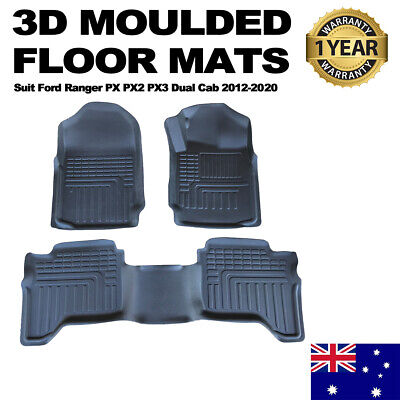 AU109.95 • Buy 3D TPE All Weather Floor Mats Liner Fit Ford Ranger PX 123 MK Dual Cab Wildtrak